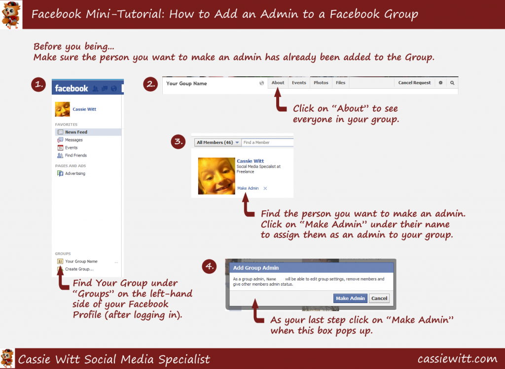 How to Add An Admin to a Facebook Group Mini-tutorial