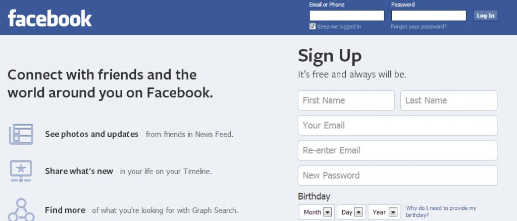 FacebookFrontPage